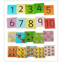 Small Pocket Dice Set - Animal Number Cards