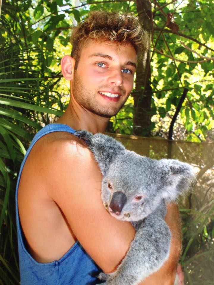 George on his travels with a koala