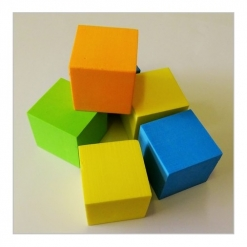 Foam Cubes - Multicoloured Single